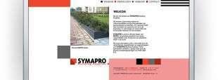 Vormgeving en interactieve design website SYMAPRO Building Supplies te Spijkenisse