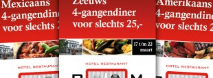 Promotie culinaire arrangementen Restaurant Bom via billboards