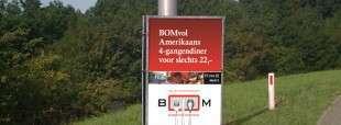 Promotieposter BOMvol voor regionale driehoeksborden op Schouwen-Duiveland, Zeeland
