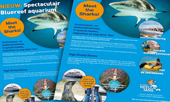 Advertentie campagne in de PZC voor Deltapark Neeltje Jans.