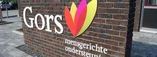 Signing voorzijde Centeraal Kantoor Gors in Goes (Zeeland)