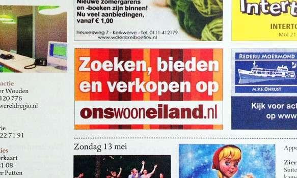 Advertentie - Zoeken, bieden eb verkopen op onswooneiland.nl - offlinecampagne.