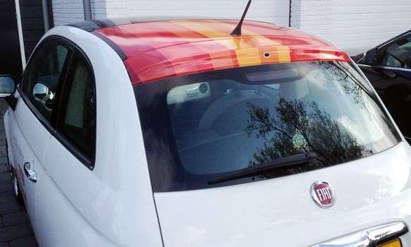 Fleetmarketing Fiat 500 onswooneiland.nl.